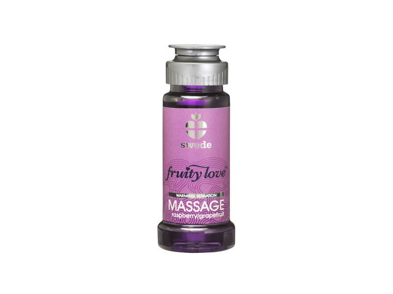 FRUITY LOVE ACEITE MASAJE EFECTOR CALOR 50 ML FRAMBUESA/POMELO SWEDE