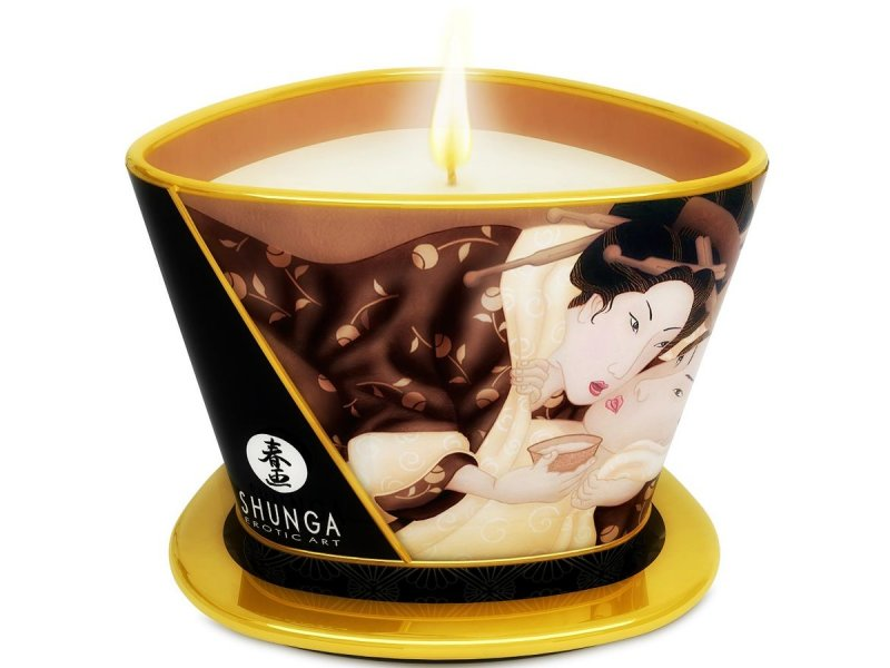 SHUNGA MINI CARESS BY CANDELIGHT VELA MASAJE CHOCOLATE 170ML11114