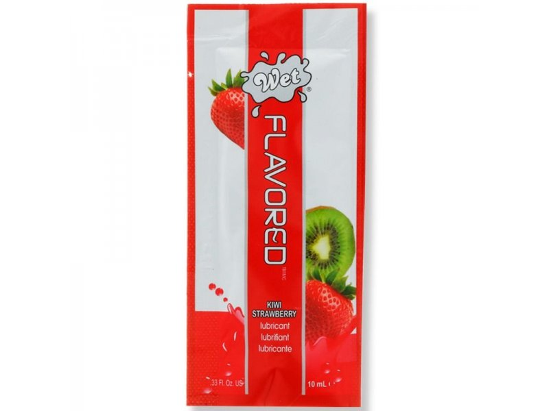 WET FLAVORED LUBRICANTE FRESAS CON KIWI 10 ML