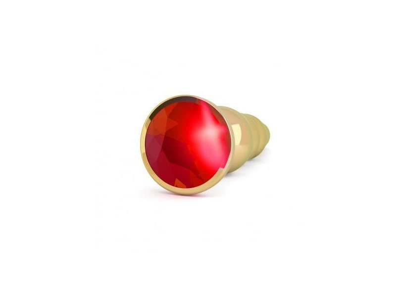 RICH R5 GOLD PLUG ANAL METAL RED SAPHIRE 12.5CM