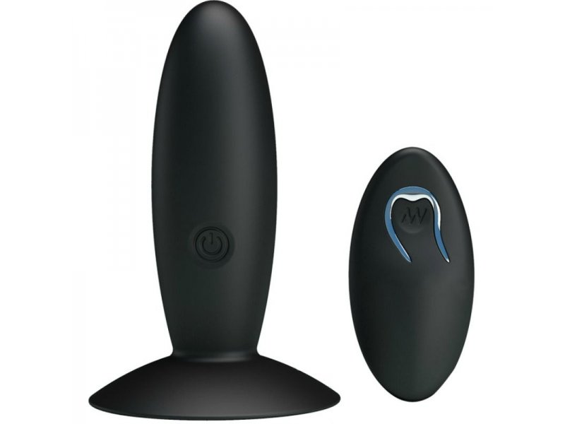PRETTY LOVE - BOTTOM - PLUG ANAL RECARGABLE CON VIBRACION Y MANDO