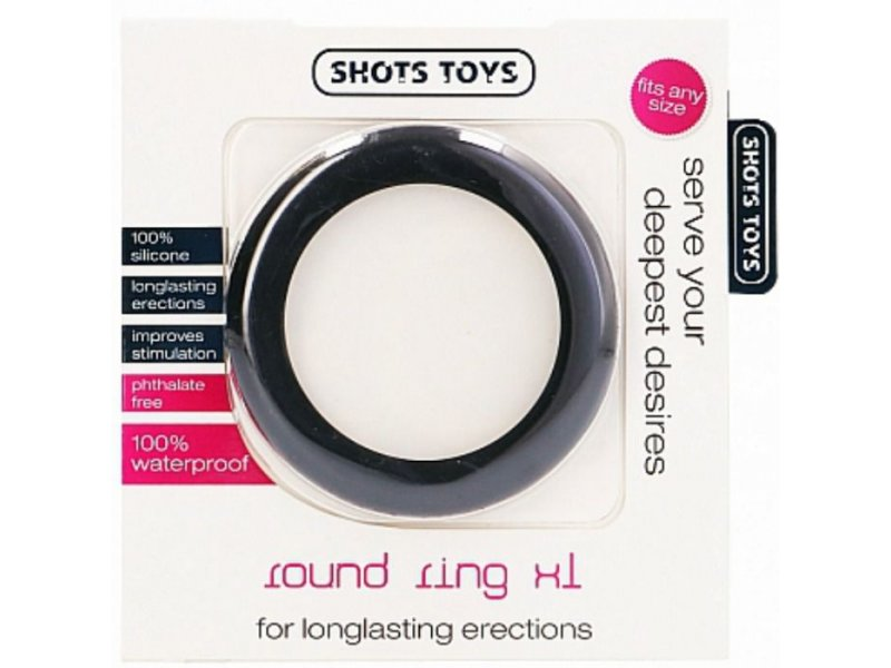SHOTS TOYS - ANILLO PENE ROUND COCK RING XL16288