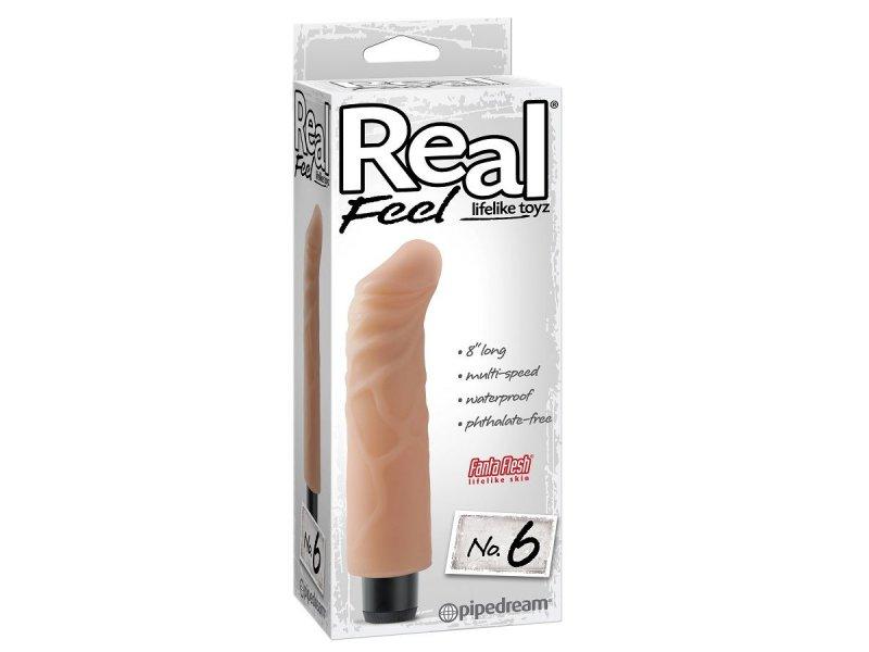 REAL FEEL LIFELIKE TOYZ VIBRADOR NUM 6 NATURAL