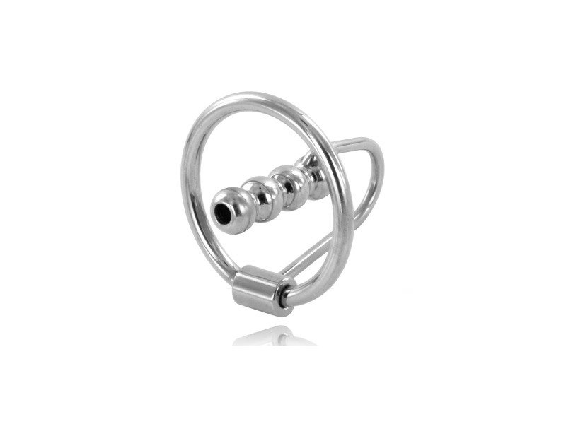 METALHARD ANILLO GLANDE CON PLUG URETRAL 28MM
