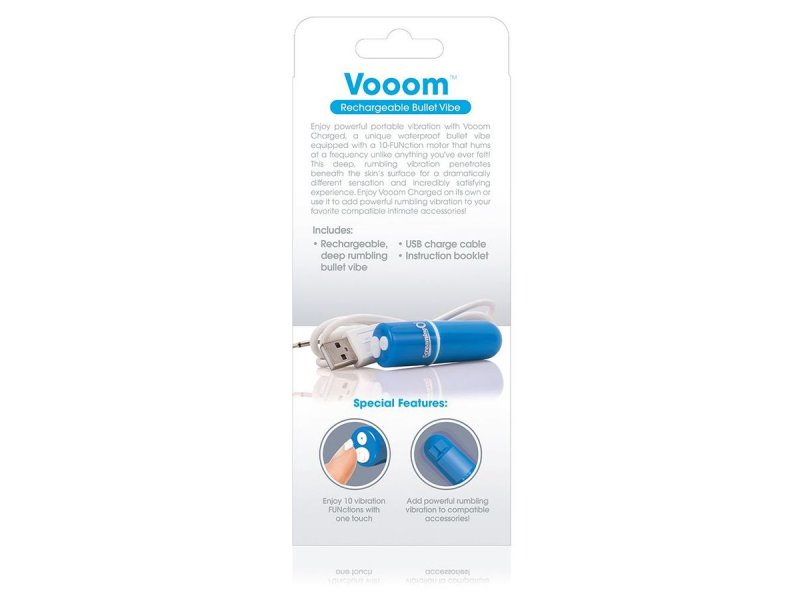 SCREAMING O BALA VIBRADORA RECARGABLE VOOOM AZUL23101