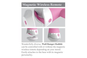 3SOME WALL BANGER RABBIT VIBRADOR CONTROL REMOTO33599