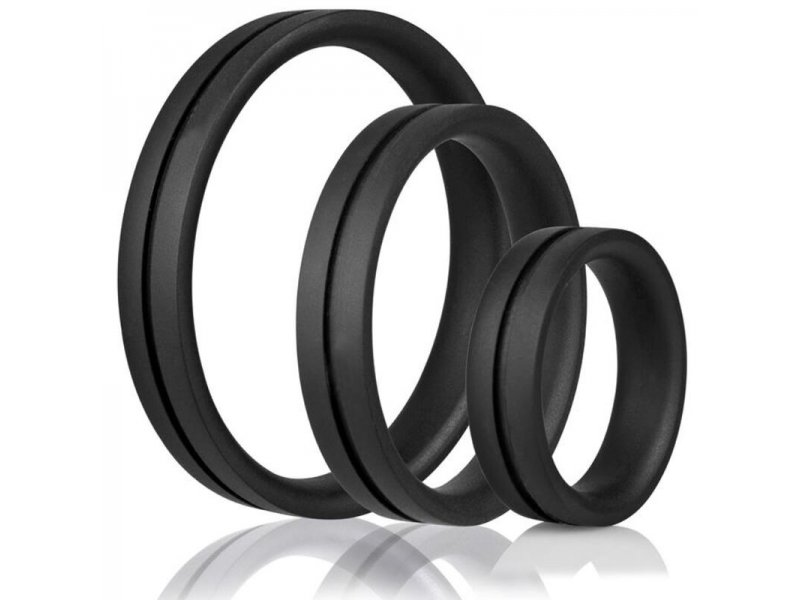 SCREAMING O - ANILLO PENE Y TESTICULOS RING O XXL - NEGRO