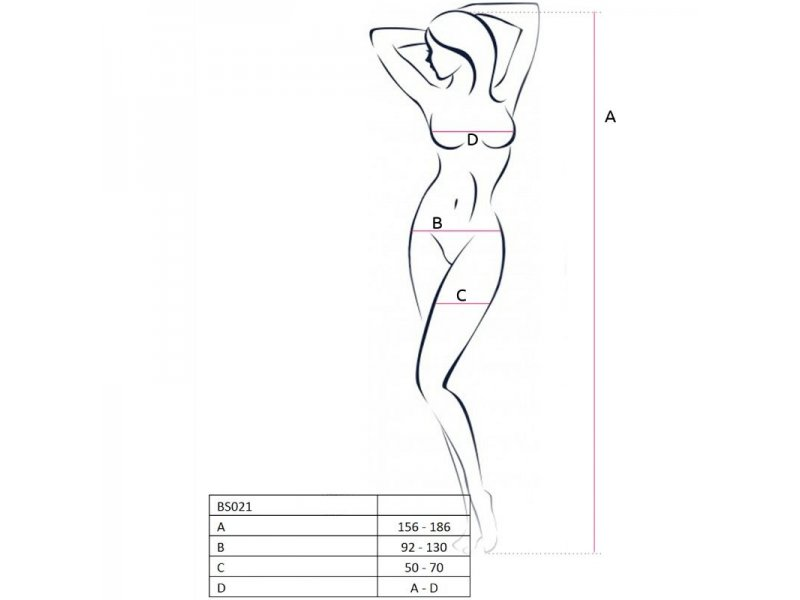 PASSION WOMAN BS021 BODYSTOCKING BLANCO TALLA UNICA8995