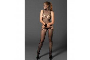 LEG AVENUE KINK BODYSTOCKING  CON AROS GOLD Y ESPOSAS9787