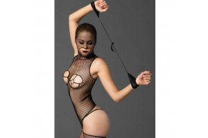 LEG AVENUE KINK BODYSTOCKING  CON AROS GOLD Y ESPOSAS9788