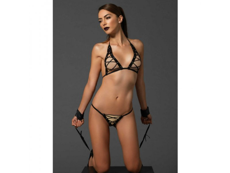 LEG AVENUE 3PCS SET CON ESPOSAS FETISH